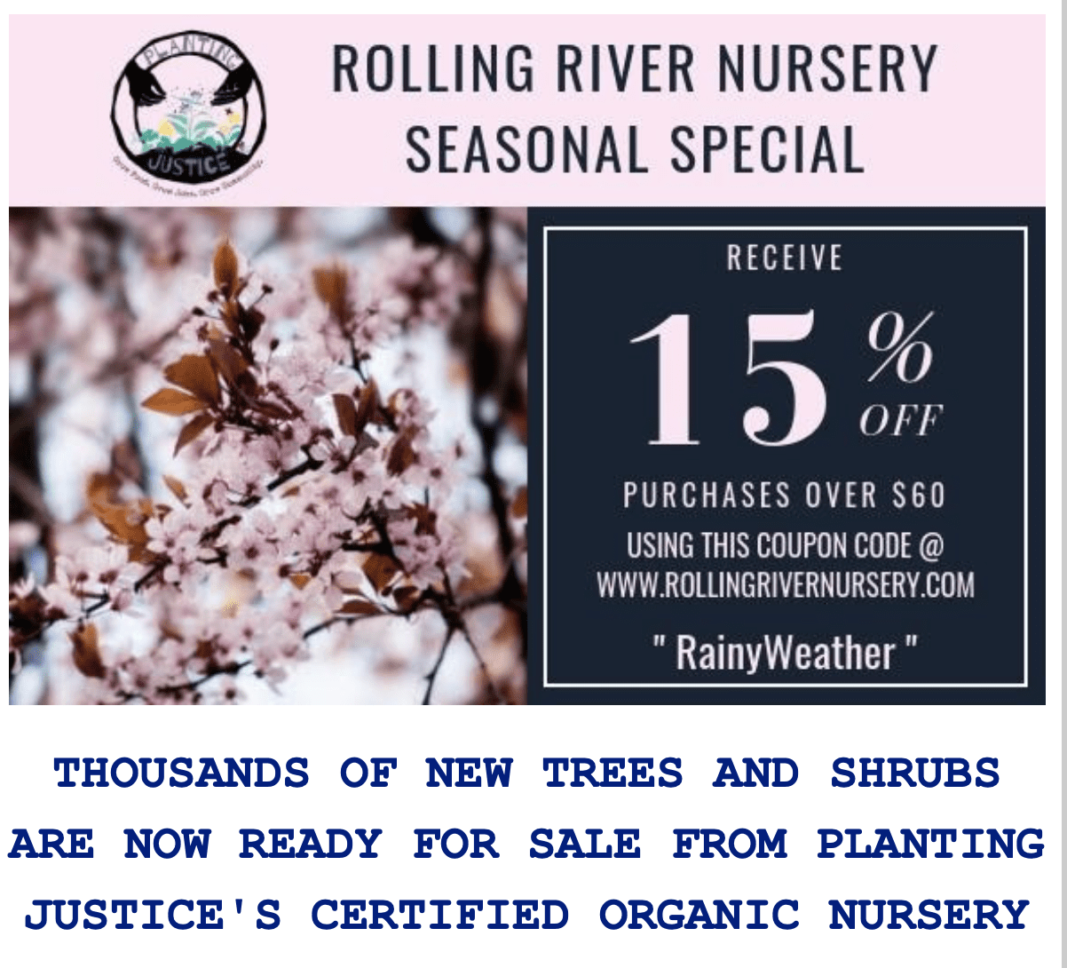 Don't miss this season's specials from the Planting Justice Nursery in Oakland ScreenShot2019 05 02at11.11.15PM