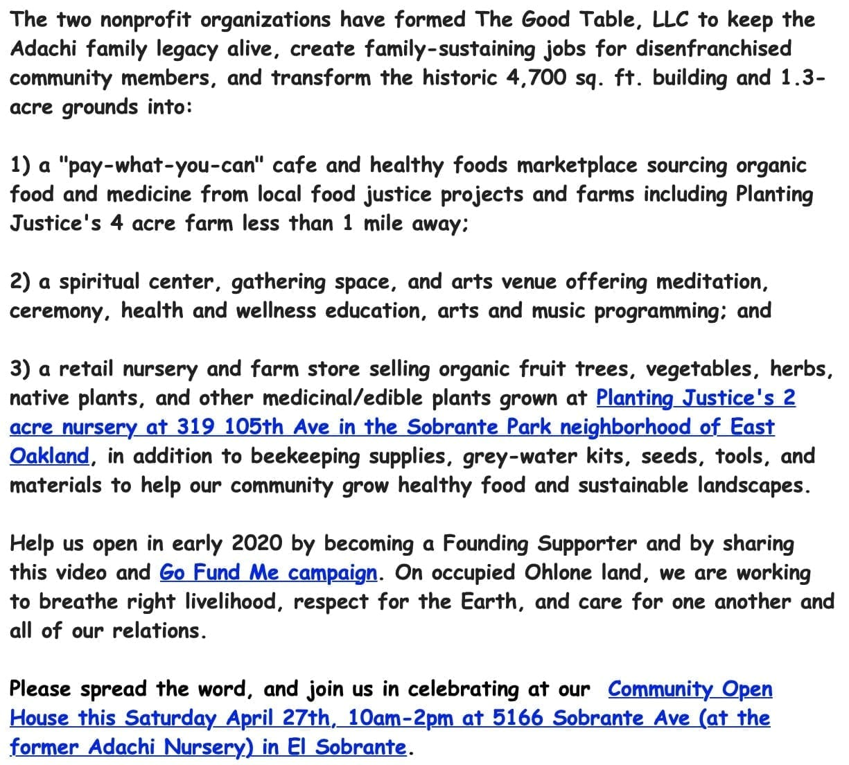 Important Announcement Advancing Food Justice @ Adachi! ScreenShot2019 05 03at11.00.59AM