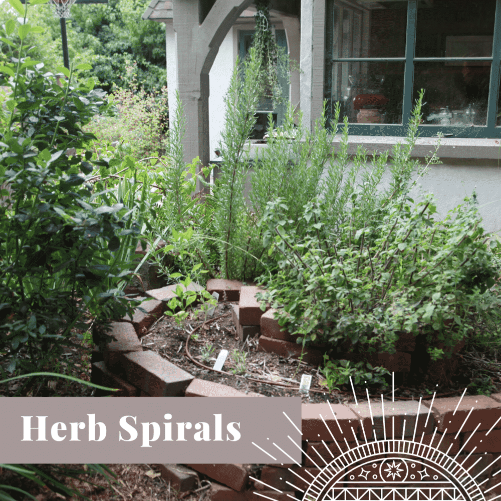 Transform Your Yard herb spirals